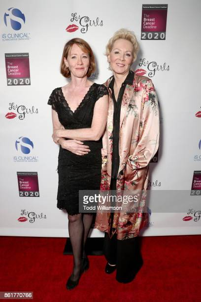 Ann Cusack and Jean Smart attend National Breast Cancer Coalition Fund's 17th Annual Les Girls Cabaret at Avalon Hollywood on October 15 2017 in Los...