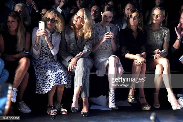Ann DexterJones Jerry Hall Coco Rocha Carine Roitfeld and Karolina Kurkova attend the Marchesa fashion show during New York Fashion Week The Shows at...