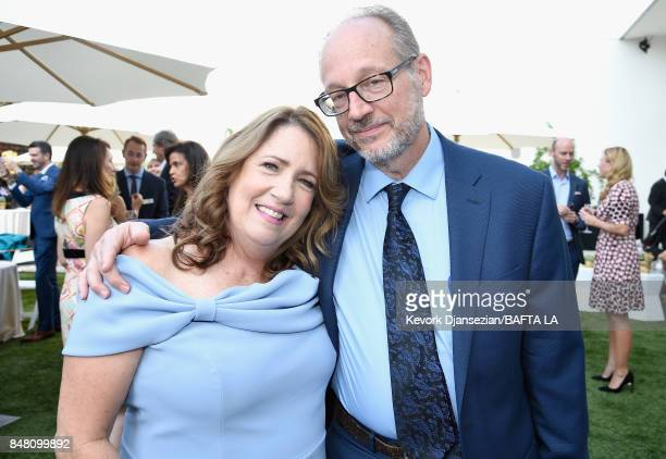 Ann Dowd and Lawrence Arancio attend the BBC America BAFTA Los Angeles TV Tea Party 2017 at The Beverly Hilton Hotel on September 16 2017 in Beverly...