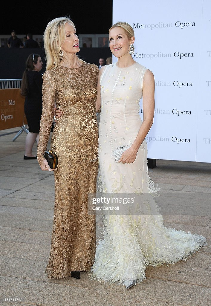 Ann Edwards (L) and actress Kelly Rutherford attend the season opening performance of Tchaikovsky's 'Eugene Onegin' at The Metropolitan Opera House on September 23, 2013 in New York City.