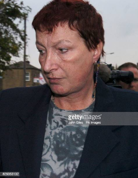 Ann GriggBooth 51 arrives at Bingley Magistrates Court West Yorkshire where she is appearing charged with three counts of murder following the deaths...