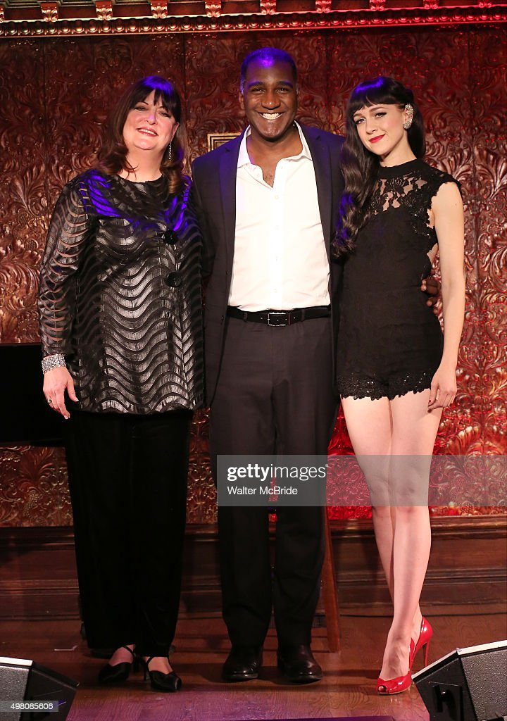 Ann Hampton Callaway, Norm Lewis and Lena Hall attend a Press Preview at Feinstein's / 54 Below on November 20, 2015 in New York City.