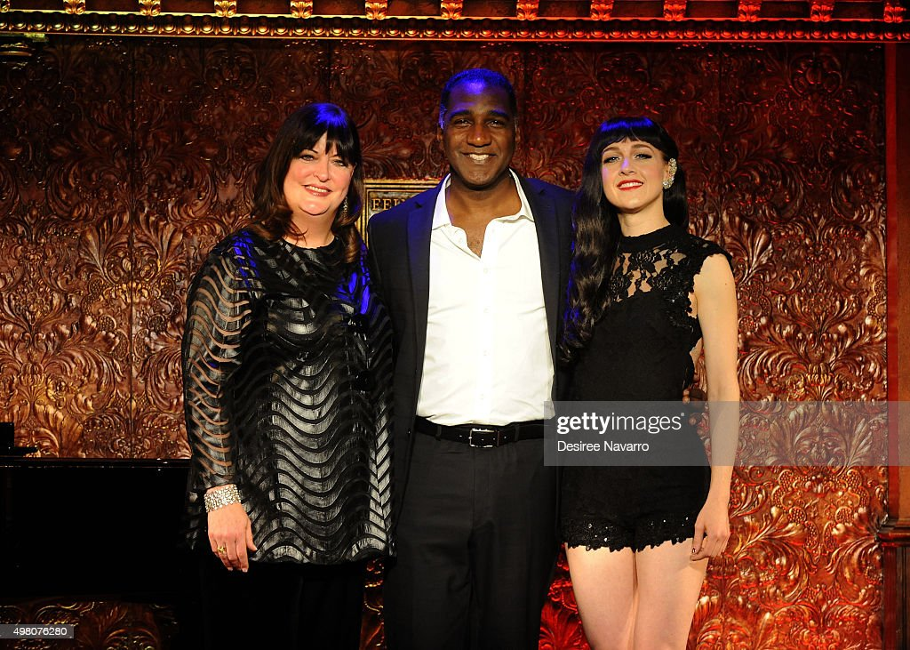 Ann Hampton Callaway, Norm Lewis and Lena Hall attend Feinstein's 54 Below Press Preiew at 54 Below on November 20, 2015 in New York City.