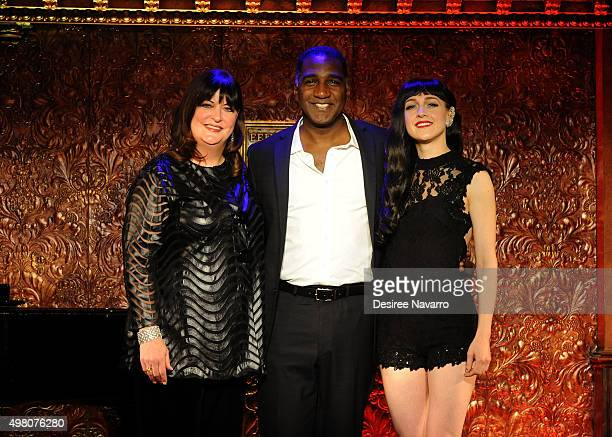 Ann Hampton Callaway Norm Lewis and Lena Hall attend Feinstein's 54 Below Press Preiew at 54 Below on November 20 2015 in New York City