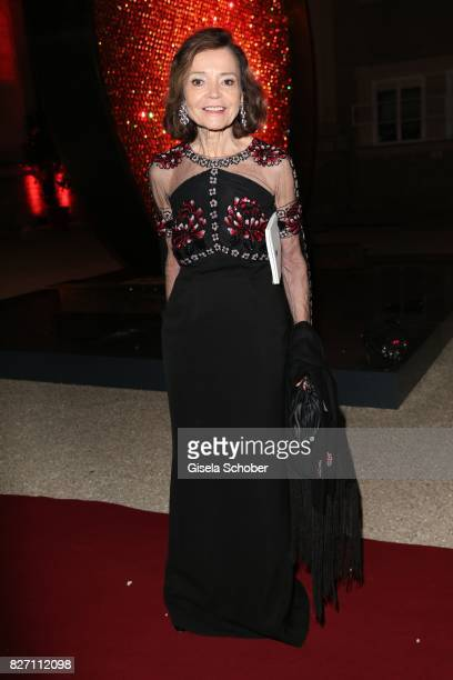 Ann Kathrin Bauknecht attends the 'Aida' premiere during the Salzburg Opera Festival 2017 on August 6 2017 in Salzburg Austria