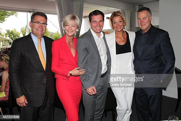Ann Kathrin Linsenhoff and her husband Klaus Martin Rath Michael Mronz Franziska van Almsick and her partner Juergen B Harder attend the CHIO 2014...