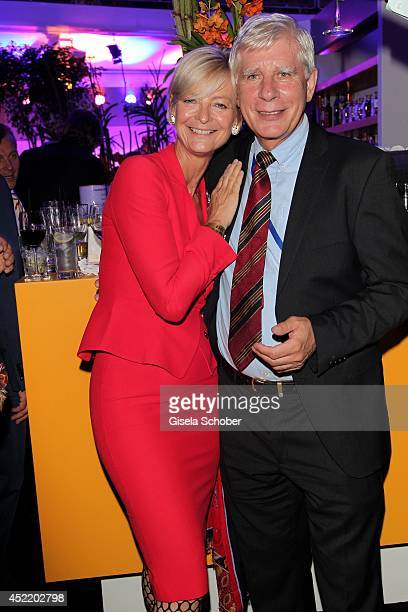 Ann Kathrin Linsenhoff and Paul Schockemoehle attend the CHIO 2014 media night on July 15 2014 in Aachen Germany