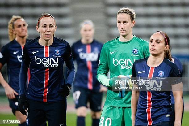 Ann Katrin Berger of PSG during Uefa Women's Champions League match between Paris Saint Germain and Fc Barcelona round of 8 second leg at Stade...
