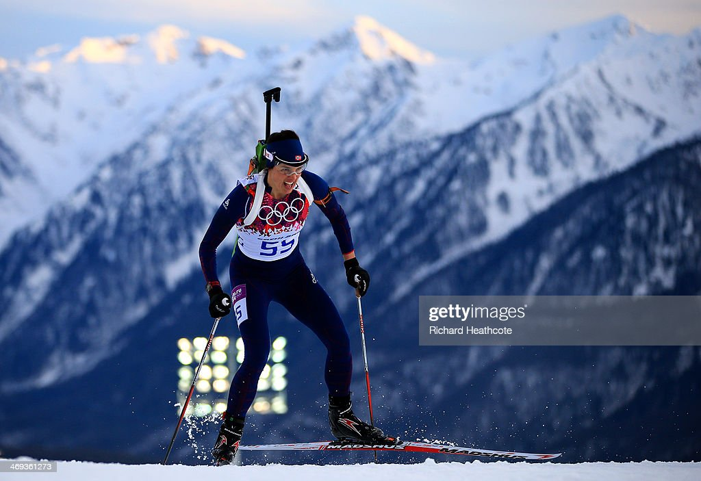 Ann Kristin Aafedt Flatland of Norway competes in the Women's 15 km Individual during day seven of the Sochi 2014 Winter Olympics at Laura Cross-country Ski & Biathlon Center on February 14, 2014 in Sochi, Russia.