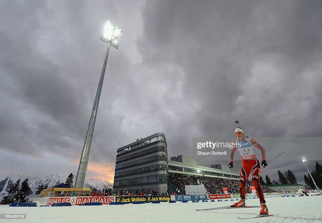 Ann Kristin Aafedt Flatland of Norway competes in the Women's 4x6km Relay event at theBiathlon & Ski Complex on March 10, 2013 in Sochi, Russia.