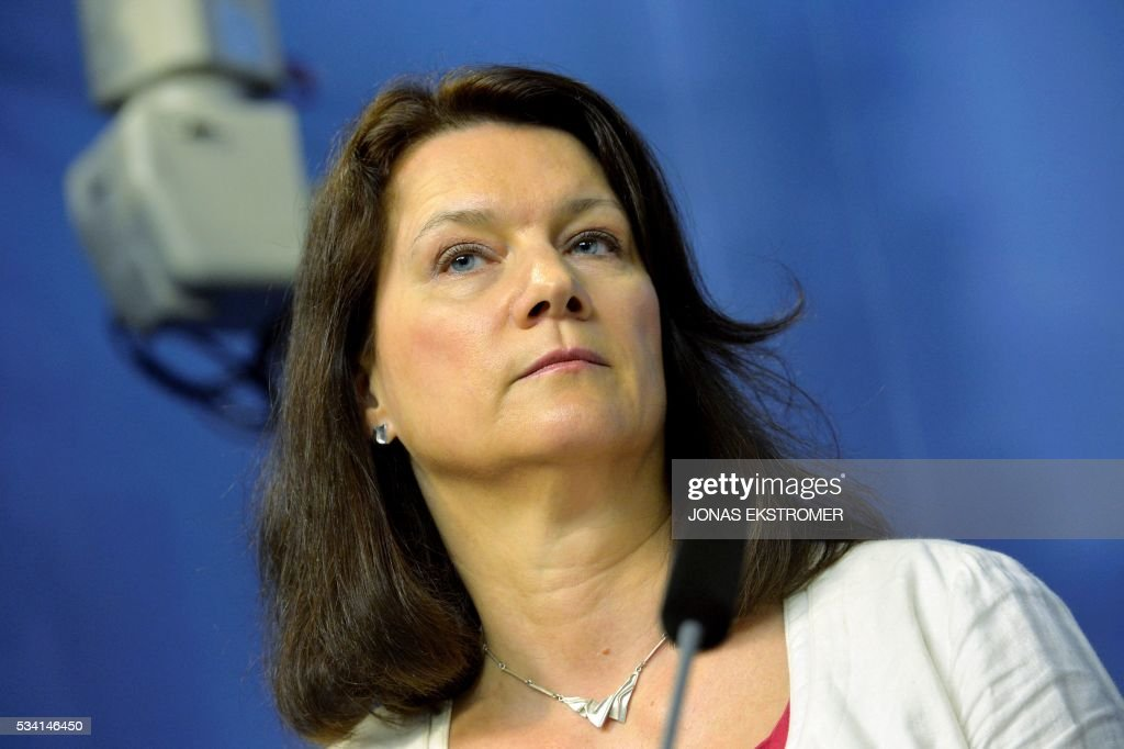 Ann Linde Sweden's new Minister for EU and Trade attends a press conference after a government reshuffle on May 25, 2016 in Stockholm. News Agency / Jonas EKSTROMER / Sweden OUT