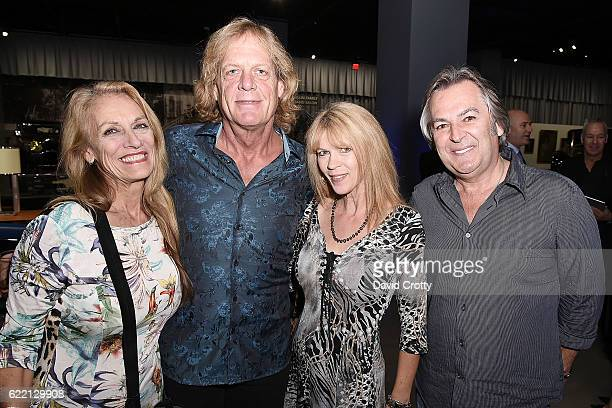 Ann Luly Ron Dobson Cathy Arkle and David Fliflet attend the Luxury Living Hosts Bugatti Home Collection Launch at Petersen Automotive Museum on...