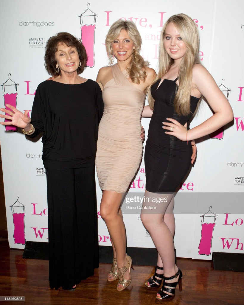 Ann Maples Marla Maples and Tiffany Trump attend the 'Love Loss What I Wore' new cast member celebration at B Smith's Restaurant on July 7 2011 in...
