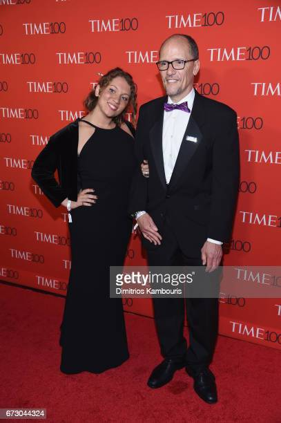 Ann Marie Staudenmaier and DNC Chair Tom Perez attend the 2017 Time 100 Gala at Jazz at Lincoln Center on April 25 2017 in New York City