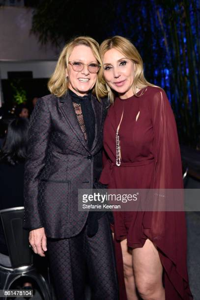 Ann Philbin and Manuela Herzer at the Hammer Museum 15th Annual Gala in the Garden with Generous Support from Bottega Veneta on October 14 2017 in...