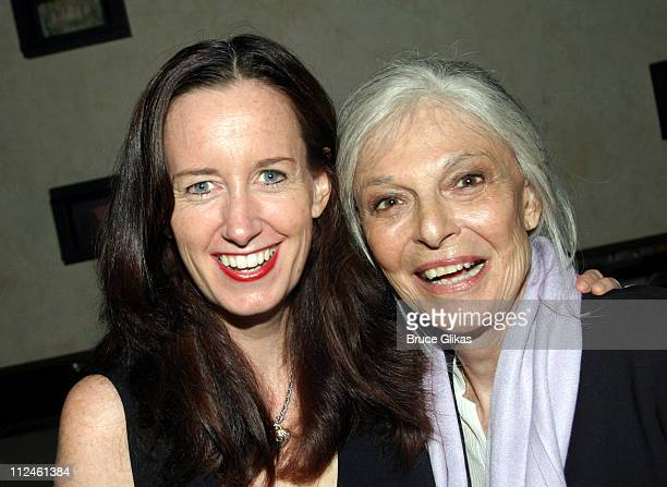 Ann Randolph star and Anne Bancroft producer during Opening Night Party for the OffBroadway Play 'Squeeze Box' at The West Bank Cafe in New York City...