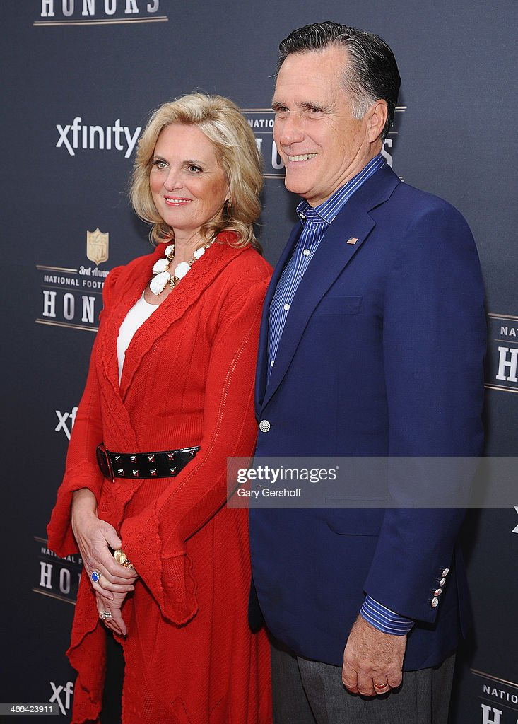 <a gi-track='captionPersonalityLinkClicked' href=/galleries/search?phrase=Ann+Romney&family=editorial&specificpeople=868004 ng-click='$event.stopPropagation()'>Ann Romney</a> and <a gi-track='captionPersonalityLinkClicked' href=/galleries/search?phrase=Mitt+Romney&family=editorial&specificpeople=207106 ng-click='$event.stopPropagation()'>Mitt Romney</a> attend the 3rd Annual NFL Honors at Radio City Music Hall on February 1, 2014 in New York City.