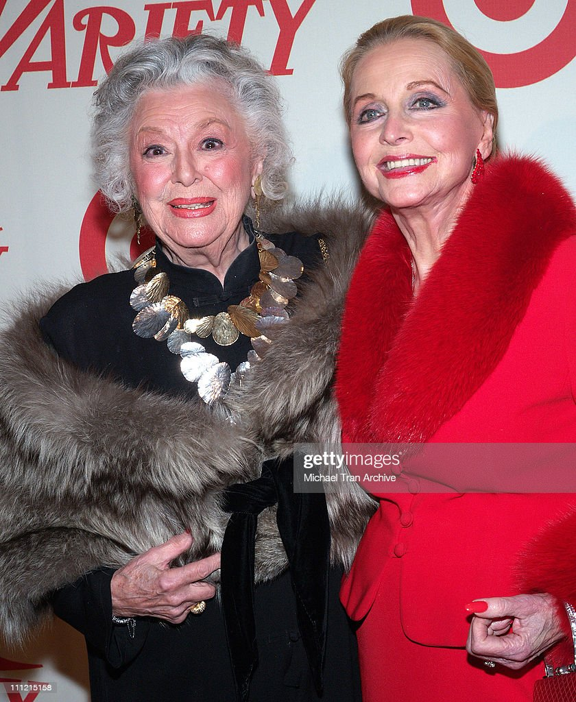 Ann Rutherford and Anne Jeffreys during Variety Centennial Gala - Arrivals at Beverly Hills Post Office in Beverly Hills, California, United States.
