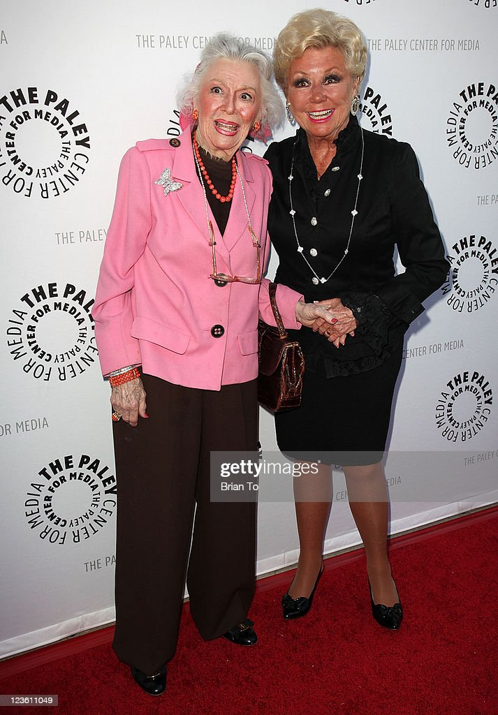 Ann Rutherford (L) and Mitzi Gaynor attend Paley Center & TCM present Debbie Reynolds' Hollywood memorabilia exhibit reception at The Paley Center for Media on June 7, 2011 in Beverly Hills, California.