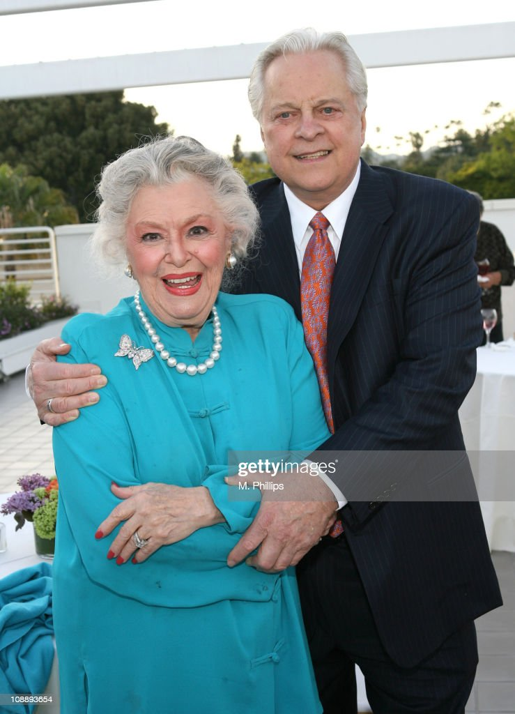 Ann Rutherford and Robert Osborne 11132_027.jpg during TCM Screening of 'Stardust: The Bette Davis Story' at Museum of Television and Radio in Beverly Hills, California, United States.