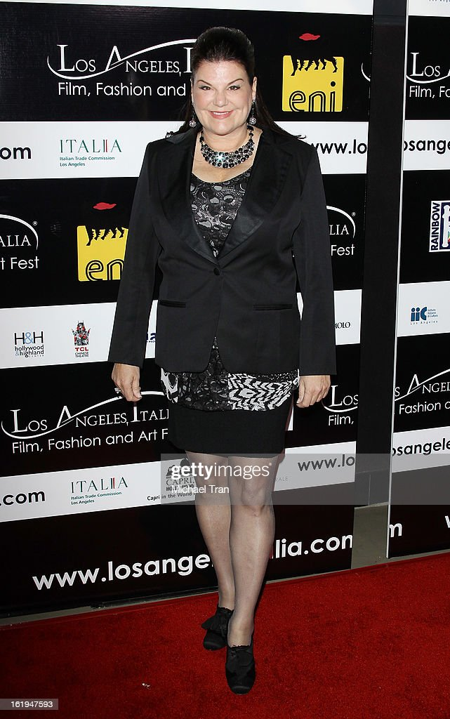 Ann Serrano Lopez arrives at The 8th Annual Los Angeles, Italia Film, Fashion And Art Festival held at Chinese 6 Theatres on February 17, 2013 in Hollywood, California.