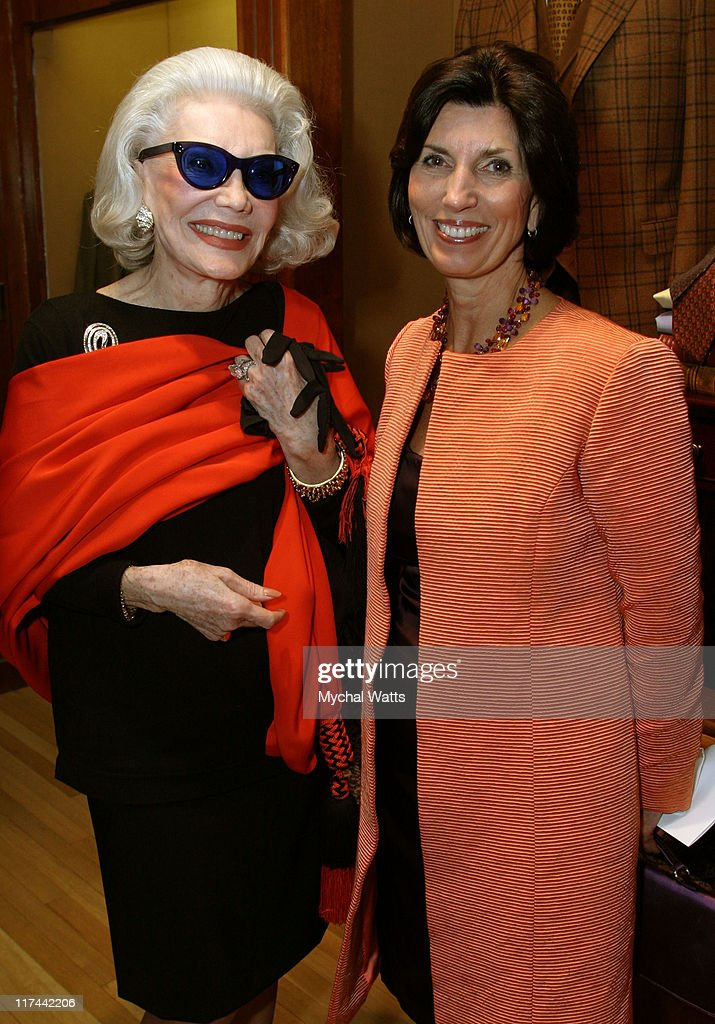 Ann Slater and Pamela Fiori during Brooks Brothers and Town & Country Celebrate Wynton Marsalis and The Opening of Jazz at Lincoln Center at Brooks Brothers Madison Ave. in New York City, New York, United States.