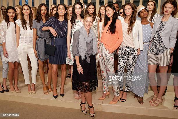 Ann Taylor Creative Director Lisa Axelson and models attend the Ann Taylor Spring/Summer 2015 Presentation on October 16 2014 in New York City