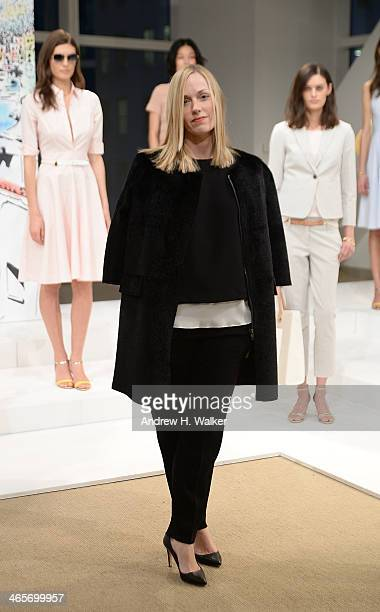 Ann Taylor designer Lisa Axelson attends the Ann Taylor Summer 2014 presentation on January 28 2014 in New York City