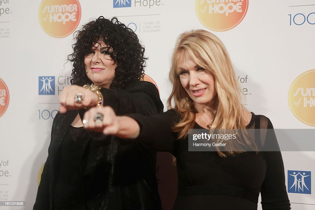 Ann Wilson and Nancy Wilson attend the City of Hope's 2013 Spirit of Life Gala at The Hercules Campus on September 19, 2013 in Playa Vista, California.