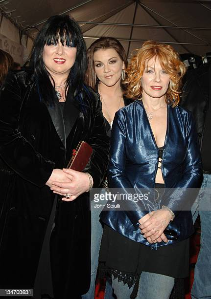 Ann Wilson Gretchen Wilson and Nancy Wilson during 2005 CMT Music Awards Arrivals at Gaylord Entertainment Center in Nashville Tennessee United States