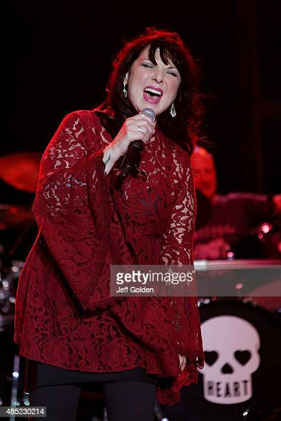 Ann Wilson of Heart performs at the Antelope Valley Fairgrounds on August 25 2015 in Lancaster California