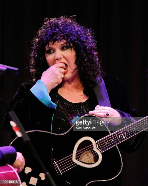 Ann Wilson of Heart performs at The GRAMMY Museum and MusiCares present 'An Evening With Heart' at The GRAMMY Museum on May 24 2010 in Los Angeles...
