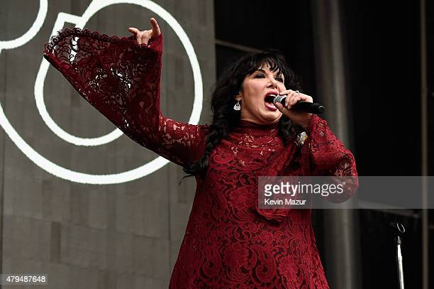 Ann Wilson of Heart performs onstage during the Foo Fighters 20th Anniversary Blowout at RFK Stadium on July 4 2015 in Washington DC