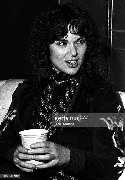 Ann Wilson of Rock group Heart backstage at The Omni Coliseum in Atlanta Georgia September 28 1978