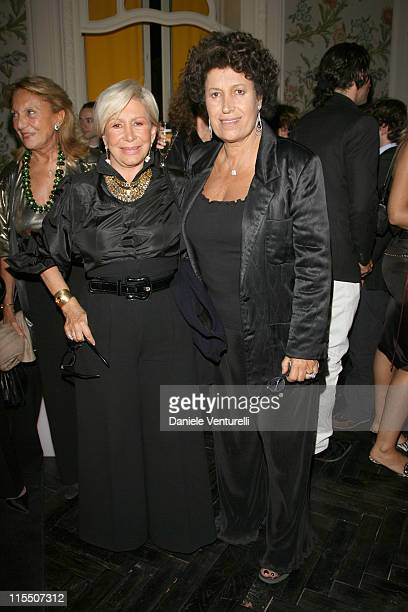 Anna and Carla Fendi Fendi during 1st Annual Rome Film Festival Fendi Party in Rome Italy