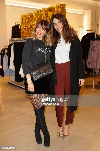 Anna Angelina Wolfers and Lilli Hollunder attend the HM X Grazia flagship store opening on March 1 2017 in Hamburg Germany