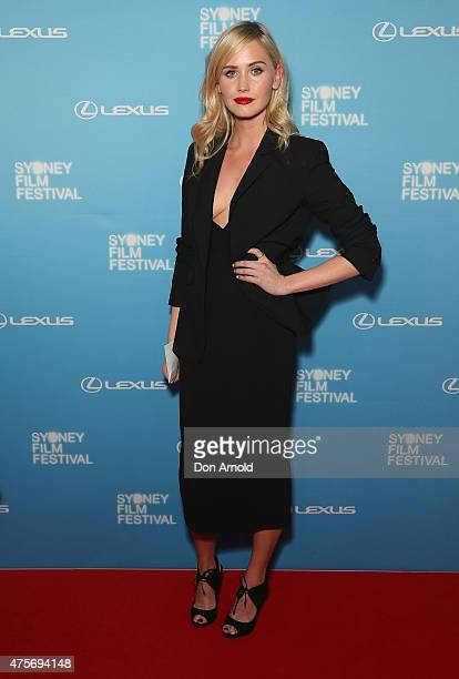 Anna Bamford arrives at the Sydney Film Festival Opening Night Gala at the State Theatre on June 3 2015 in Sydney Australia