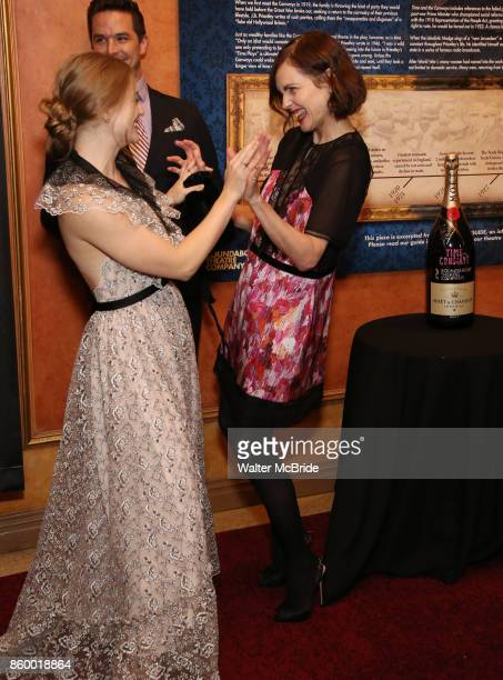 Anna Baryshnikov and Elizabeth McGovern attend the Broadway Opening Night After Party for The Roundabout Theatre Company production of 'Time and The...