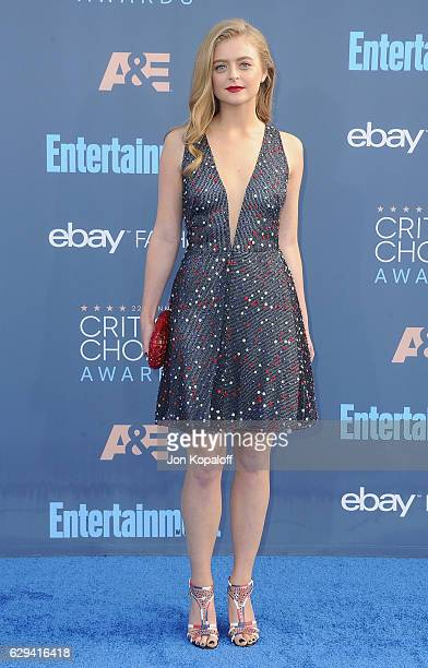 Anna Baryshnikov arrives at The 22nd Annual Critics' Choice Awards at Barker Hangar on December 11 2016 in Santa Monica California