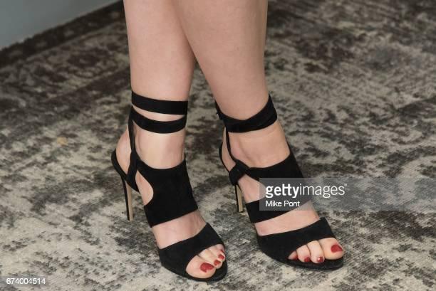 Anna Baryshnikov shoe detail visits Build Studios to discuss 'Superior Donuts' at Build Studio on April 27 2017 in New York City
