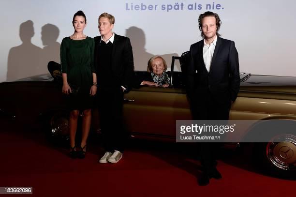 Anna Bederke Matthias Schweighoefer Ruth Maria Kubitschek and August Diehl attend the 'Frau Ella' Premiere at CineStar on October 8 2013 in Berlin...