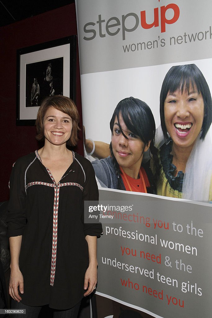 Anna Belknap attends the Step Up Women's Network Women Who Rock Event at The Roxy Theatre on March 6, 2013 in West Hollywood, California.
