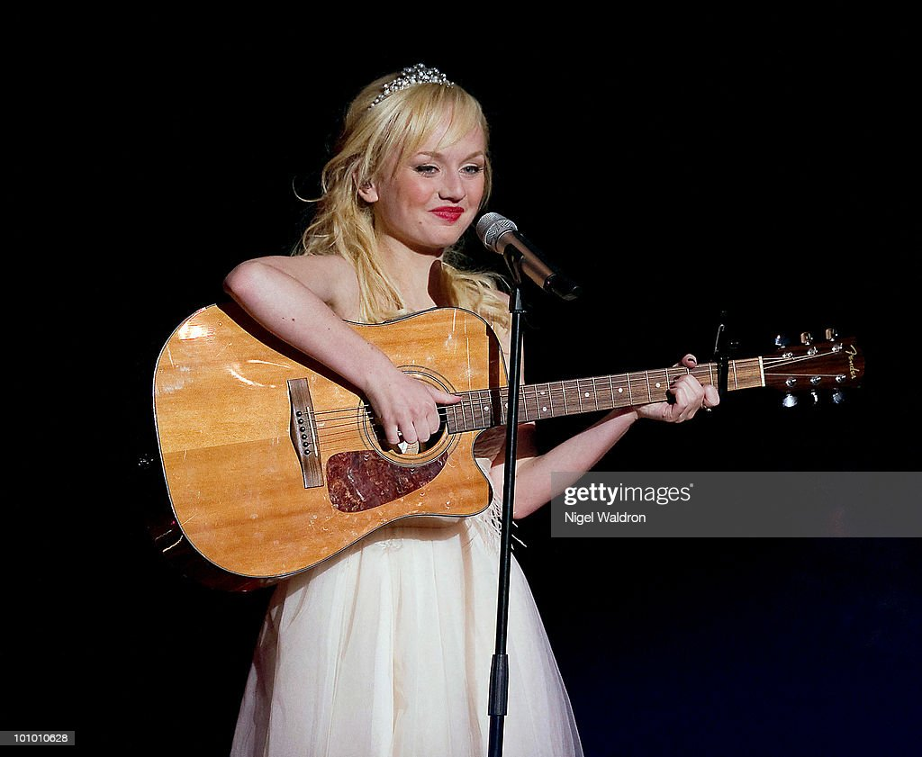 Anna Bergendahl of Sweden performs during the dress rehearsal of the Eurovision Song Contest on May 26, 2010 in Oslo, Norway.