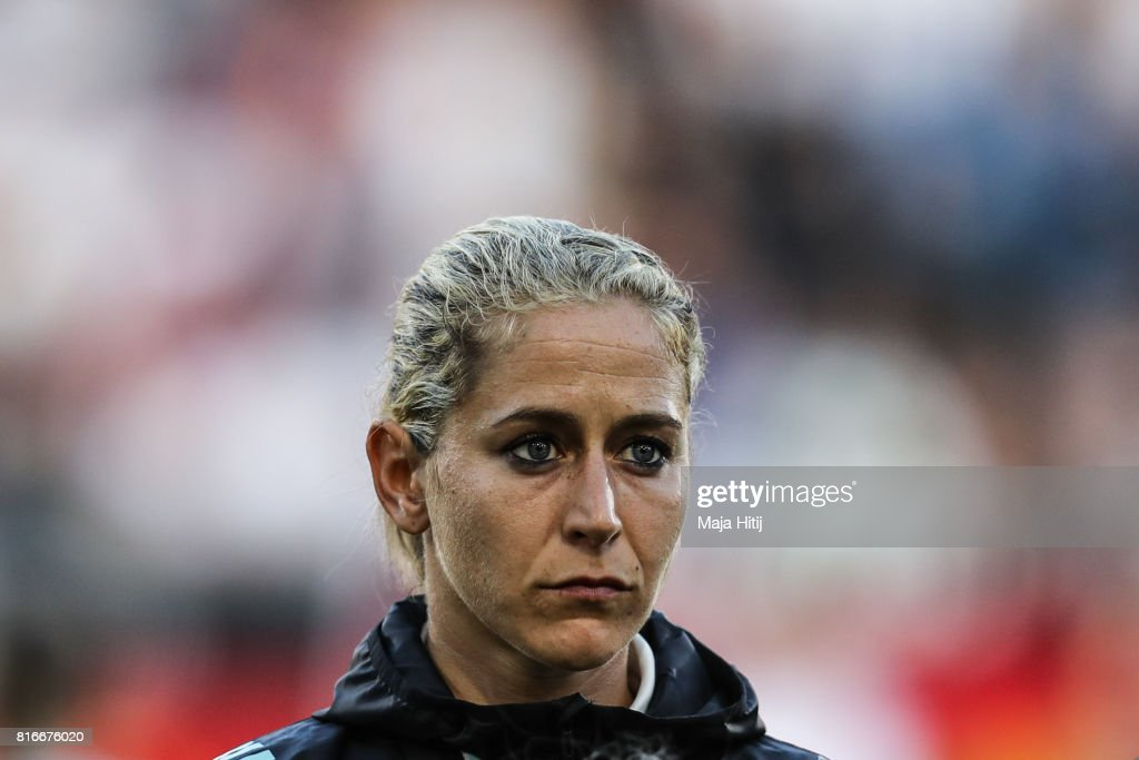 Anna Blaesse of Germany stands prior the Group B match between Germany and Sweden during the UEFA Women's Euro 2017 at Rat Verlegh Stadion on July 17, 2017 in Breda, Netherlands.
