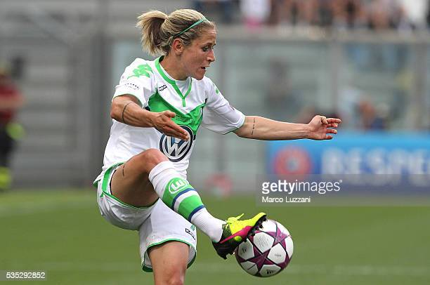 Anna Blasse of VfL Wolfsburg in acton during the UEFA Women's Champions League Final VfL Wolfsburg and Olympique Lyonnais between at Mapei Stadium...
