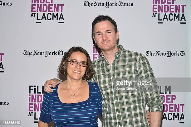 Anna Boden and Ryan Fleck attend the Film Independent at LACMA screening and QA of 'Mississippi Grind' at Bing Theatre At LACMA on September 17 2015...