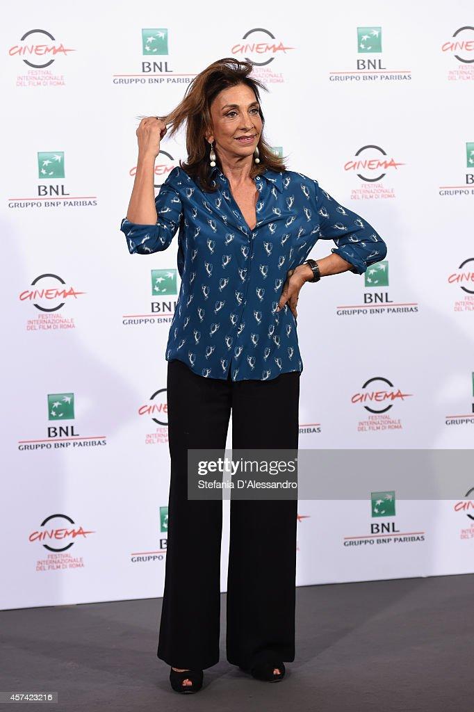 Anna Bonaiuto attends 'Buoni A Nulla' Photocall during The 9th Rome Film Festival at Aditorium Parco Della Musica on October 18 2014 in Rome Italy