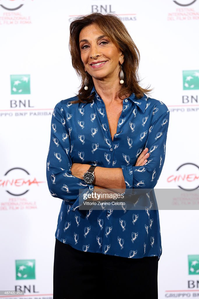 Anna Bonaiuto attends the 'Buoni A Nulla' Photocall during the 9th Rome Film Festival on October 18 2014 in Rome Italy