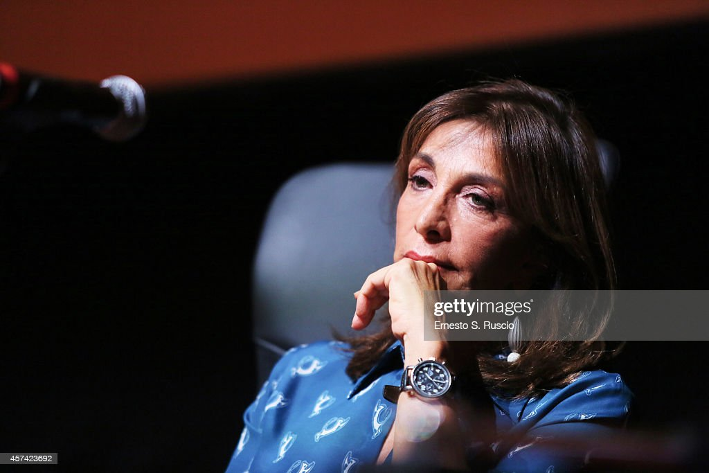 Anna Bonaiuto attends the 'Buoni A Nulla' Press Conference during the 9th Rome Film Festival on October 18 2014 in Rome Italy