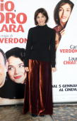 Anna Bonaiuto attends the 'Io E Lara' photocall at Warner Moderno on December 30 2009 in Rome Italy